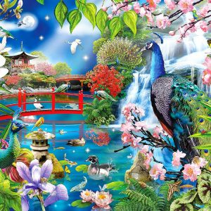 Peacock Garden 1000+ PC Jigsaw Puzzle