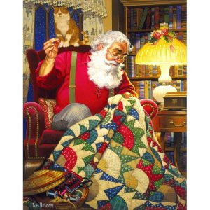 Quilting Santa 1000pc Jigsaw Puzzles