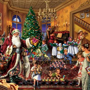 Upstairs Downstairs Christmas inThe Parlour 1000pc Holdson Jigsaw Puzzle