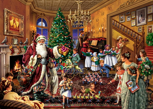 upstairs downstairs christmas in the parlour jigsaw puzzle. Black Bedroom Furniture Sets. Home Design Ideas