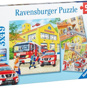 Fire Brigade Run 3 x 49 Piece Puzzle - Ravensburger