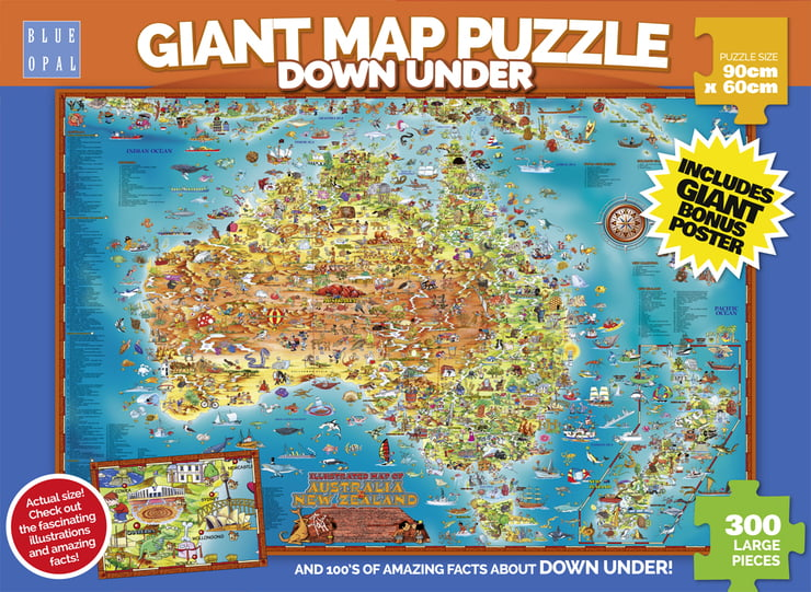 Jigsaw puzzles australia online store puzzle palace blue opal giant map gumiabroncs Images