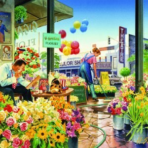 Interiors 2 Sweet Home Flower Shop 1000pc Holdson Jigsaw Puzzle
