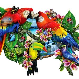 Parrots in Paradise Shaped