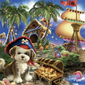 Puppy Pirate Jigsaw Puzzle 35pc