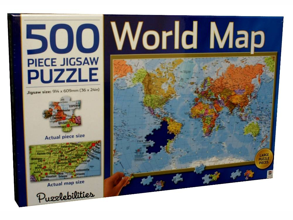 Puzzlebilities world map 500pc jigsaw puzzles puzzle palace australia puzzlebilities world map 500pc jigsaw puzzles gumiabroncs Choice Image