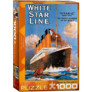 Titanic White Star Line 1000 PC Jigsaw Puzzle