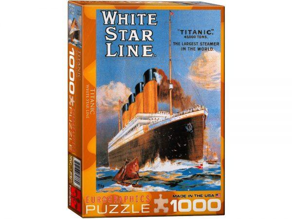 Titanic White Star Line 1000 PC Jigsaw Puzzle