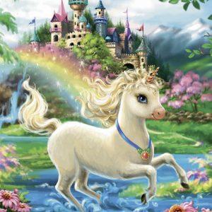 Unicorn Castle Jigsaw Puzzle 35pc