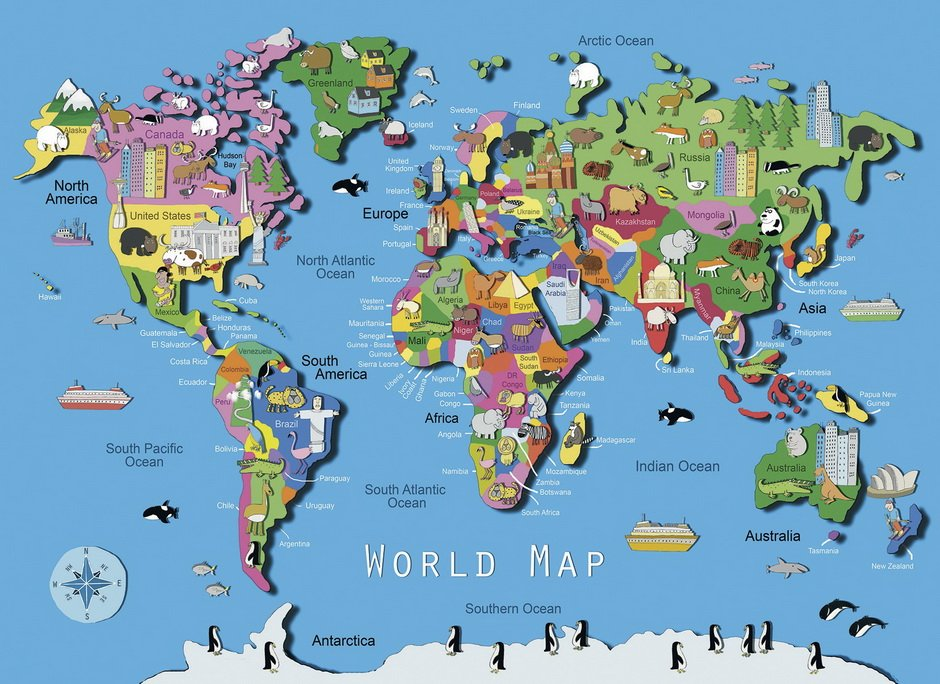 World map jigsaw puzzle 60pc puzzle palace australia world map jigsaw puzzle 60pc gumiabroncs Images