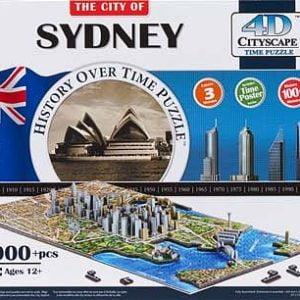 4D Cityscape Sydney 1000+pc Jigsaw Puzzle