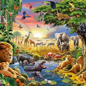 At the Watering Hole 300 XXL PC Jigsaw Puzzle