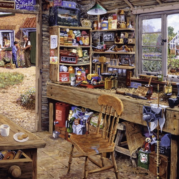 Dads Shed 500pc Ravensburger Jigsaw Puzzle