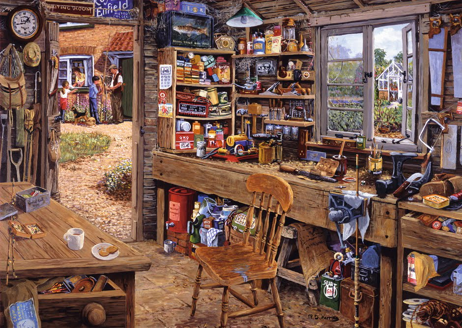 DAD'S SHED 500PC LGE Format Ravensburger Jigsaw Puzzle