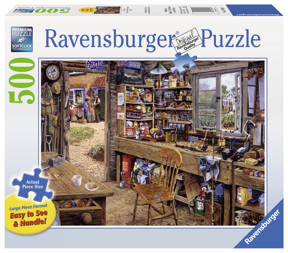 Dad's Shed 500pc Ravensburger Jigsaw Puzzle