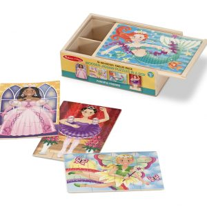 Fanciful Friends 4 x 12 PC Jigsaw Puzzle