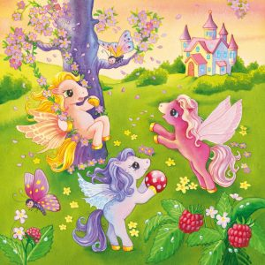 Ponies in Wonderland 3 x 49 PC Ravensburger Jigsaw Puzzle