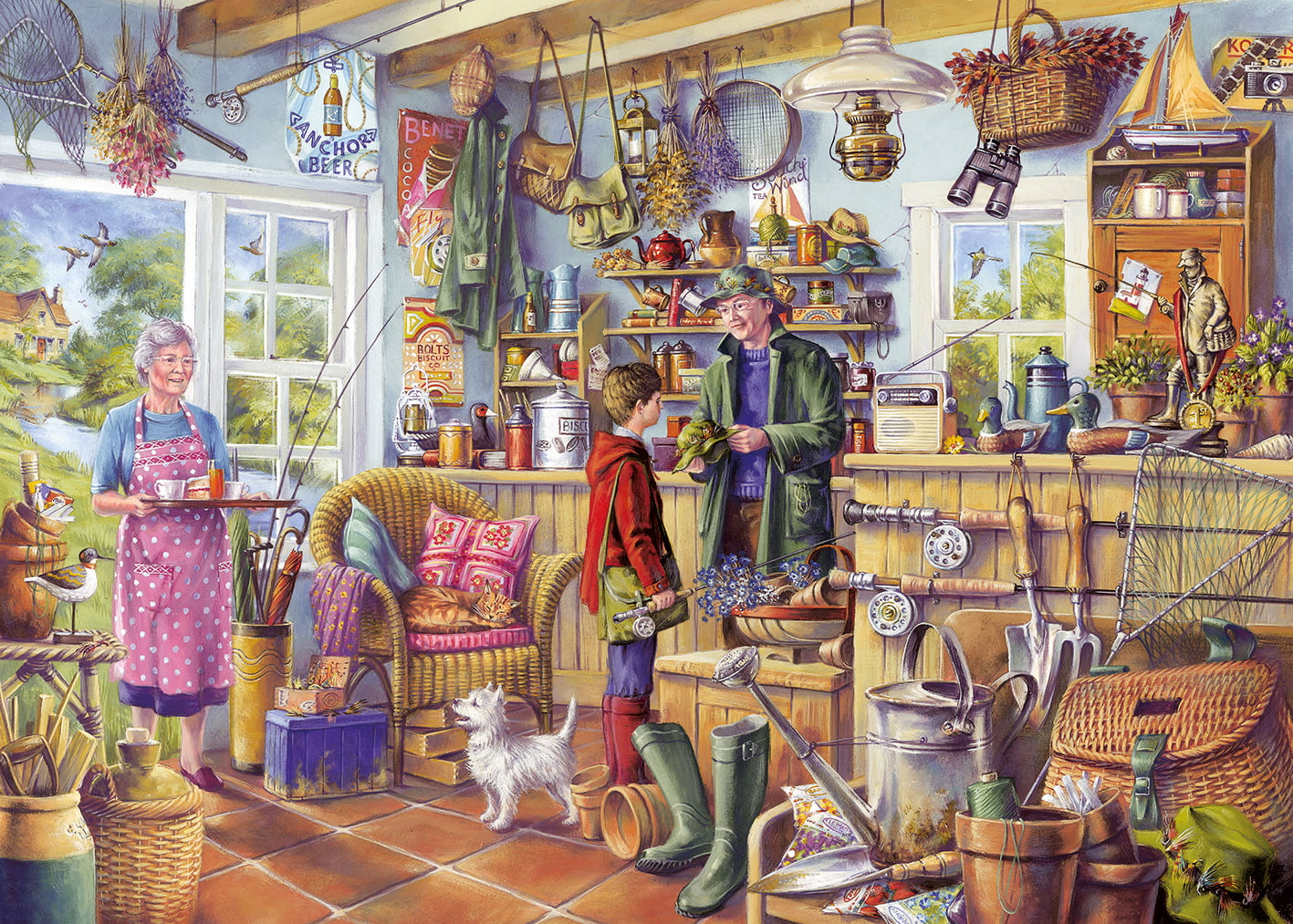 Jigsaw Puzzle The Fishing Shed Gibson 1000 Pc