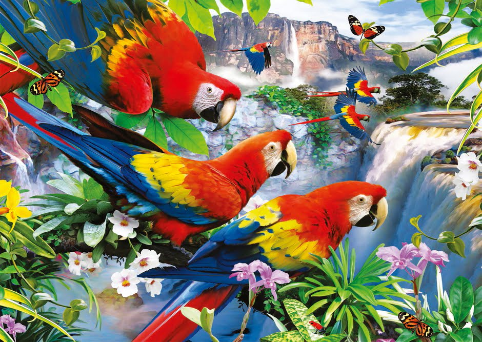 Jigsaw Puzzle Tropical Birds 300 Piece Puzzle Palace