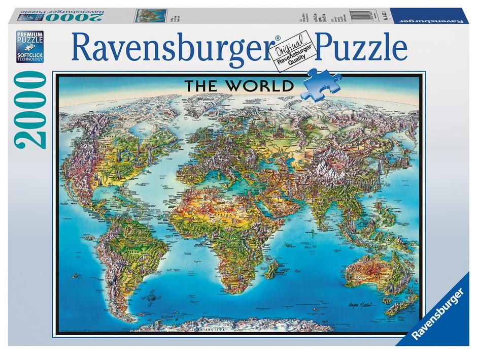 World Map 2000pc Jigsaw Puzzle Puzzle Palace Australia