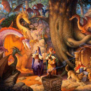 Confabulation of Dragons 1000 PC Jigsw Puzzle
