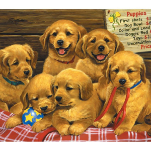 Priceless Puppies 60PC Jigsaw Puzzle