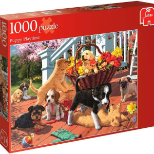 Puppy Playtime 1000 PC Jumbo Jigsaw Puzzle