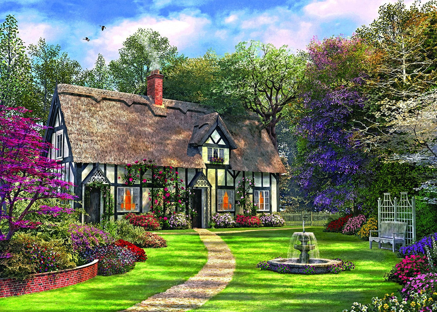 Picture perfect the hideaway cottage 1000 pc holdson for Perfect cottage