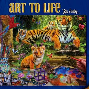 Tiger Painting 1000 PC Jigsaw Puzzle