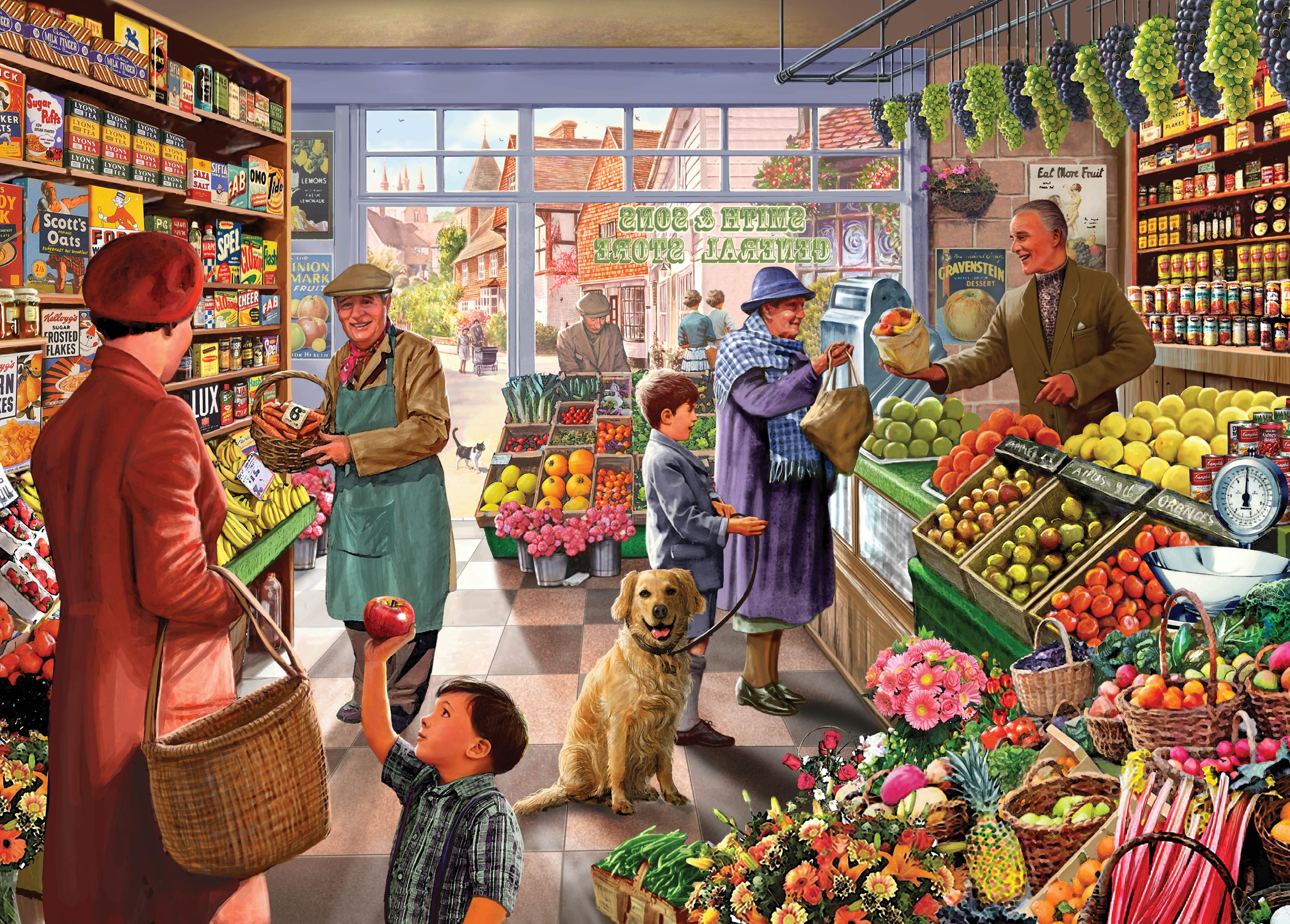 Jigsaw Puzzle Times Past Village Green Grocer Holdson