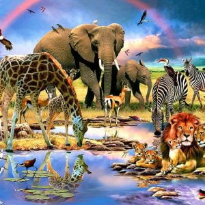Watering Hole 500 PC Jigsaw Puzzle