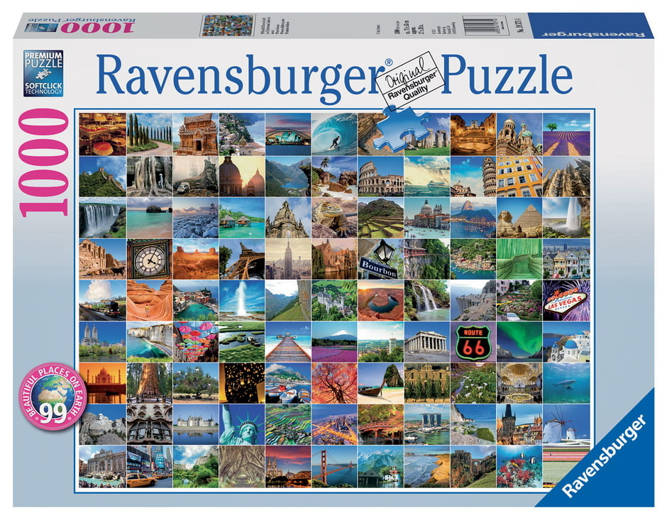 99 most beautiful places 1000 pc ravensburger jigsaw puzzle. Black Bedroom Furniture Sets. Home Design Ideas