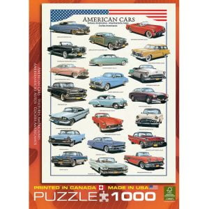 American Cars of the Fifties 1000 Jigsaw Puzzle
