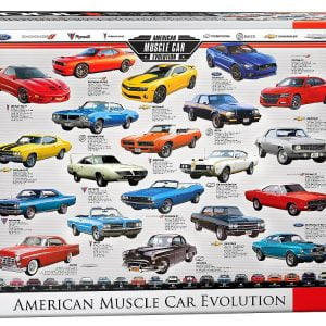American Muscle Car Evolution 1000 PC Jigsaw Puzzle