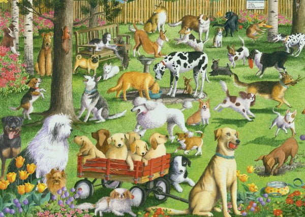 At the Dog Park LGE FORMAT 500 PC Jigsaw Puzzle