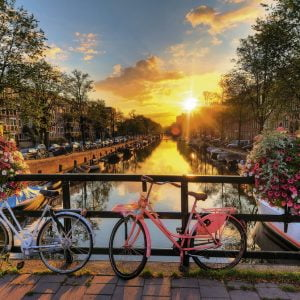 Bicycles in Amsterdam 1000 PC Jigsaw Puzzle