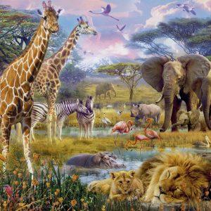 Buntes Afrika 1500 PC Jigsaw Puzzle