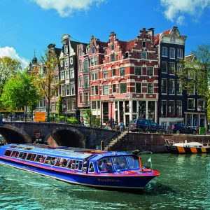 Canal Tour in amsterdam 1000 PC Jigsaw Puzzle
