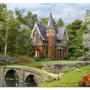 Cobbled Bridge Cottage 1000 PC Jigsaw Puzzle