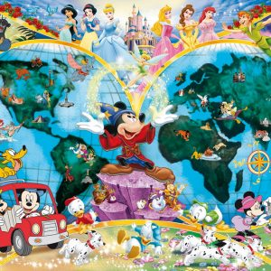 Disney World Map 1000 PC Jigsaw Puzzle