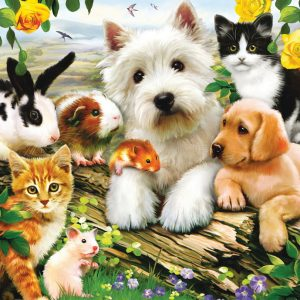 Happy Animal Babies Jigsaw Puzzle