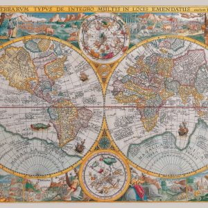 3d vintage globe 540 piece puzzleball from ravensburger historical map 1500 pc jigsaw puzzle gumiabroncs Choice Image