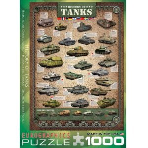 History of Tanks 1000 PC Jigsaw Puzzle
