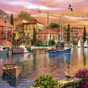 Mediterranean harbour 1500 PC Jigsaw Puzzle