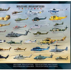 Military Helicopters 1000 PC Jigsaw Puzzles