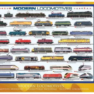Modern Locomotives 1000 PC Jigsaw Puzzle