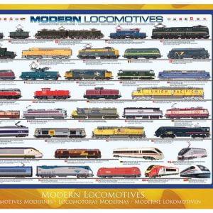 Modern Locomotives 1000 PC Jigsaw Puzzle