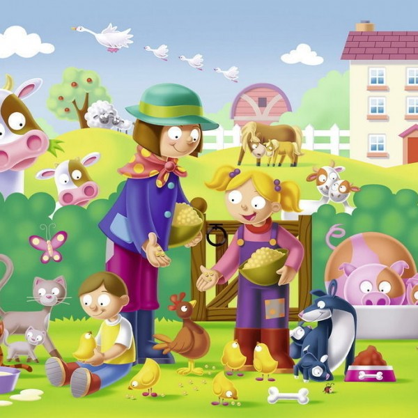 Mothers and Babies 16 PC Jigsaw Puzzle