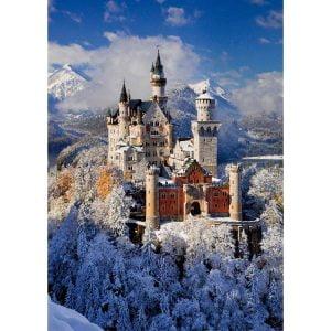 Neuschwanstein Winter Castle 1000 PC Jigsaw Puzzle