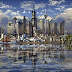 North American Skylines 3000 PC Jigsaw Puzzle
